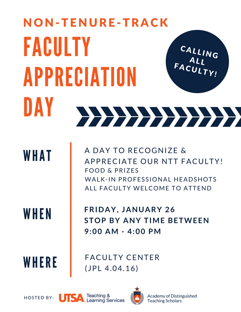 We Love Our NTT Faculty!